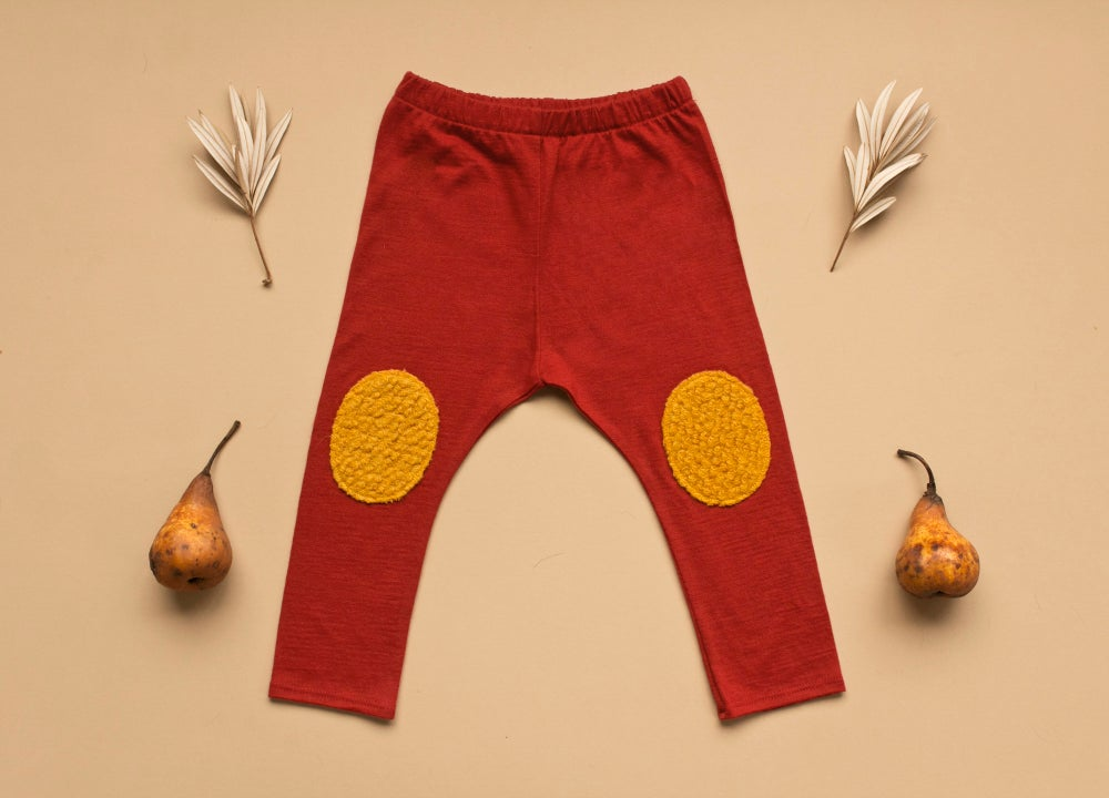 Image of BURNT RED MERINO LEGGINGS