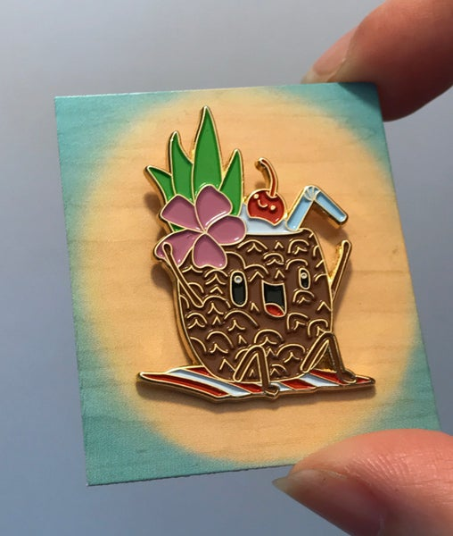"Image of ""Thurston & Lovey"" enamel pin"