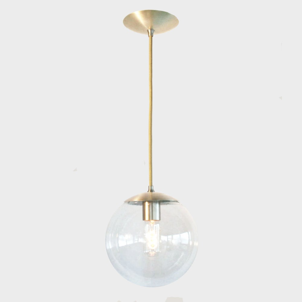 Adapted for international use mid century modern clear 8 for Mid century modern globe pendant light
