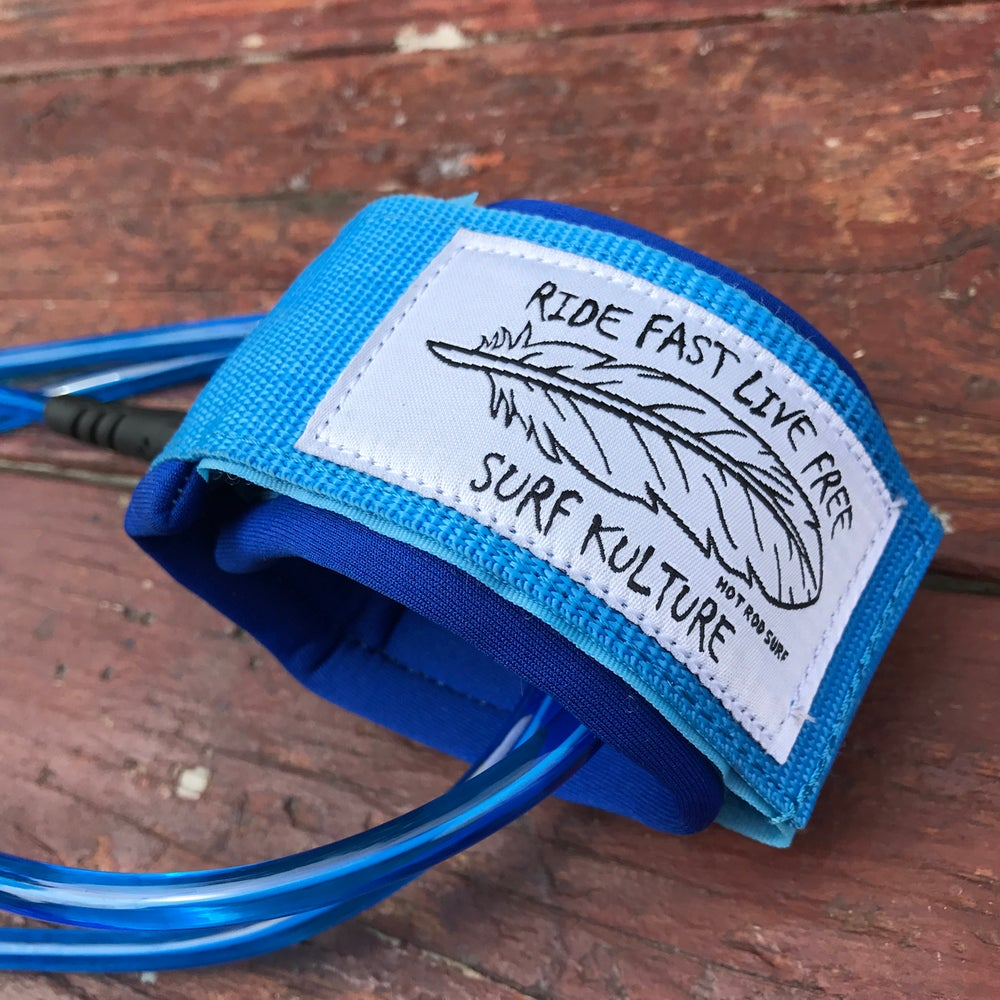Image of Surfboard Leash - Ride Fast Live Free HOTRODSURF Surf Kulture