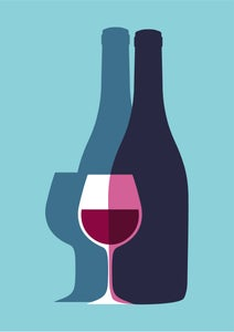 Image of Vino Wine Bottle Giclee Print
