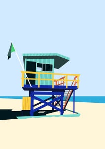Image of Miami Lifeguard Hut Giclee Print