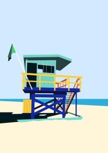 Image of Miami Lifeguard Hut Giclee Print