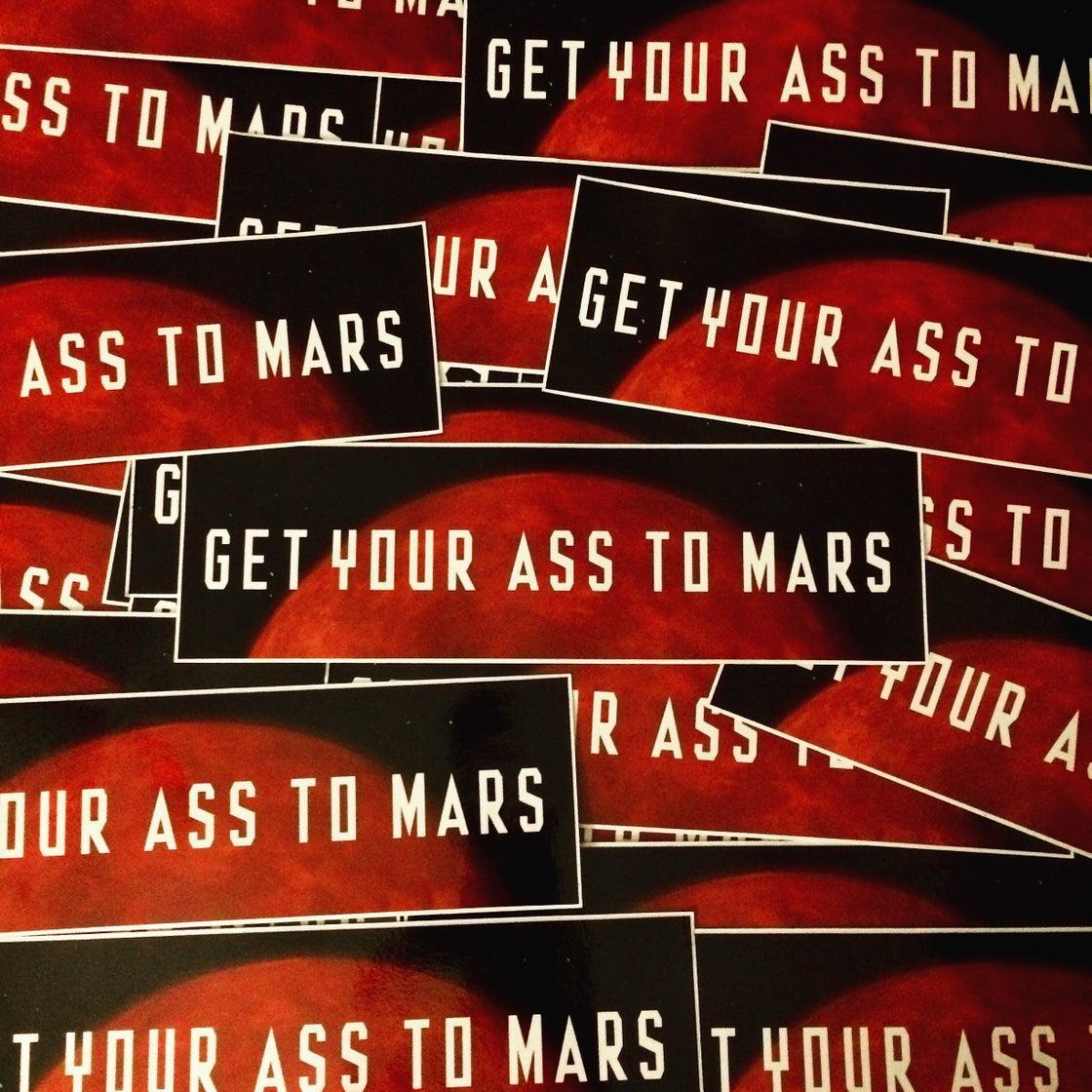Image of MARS Bumper Sticker