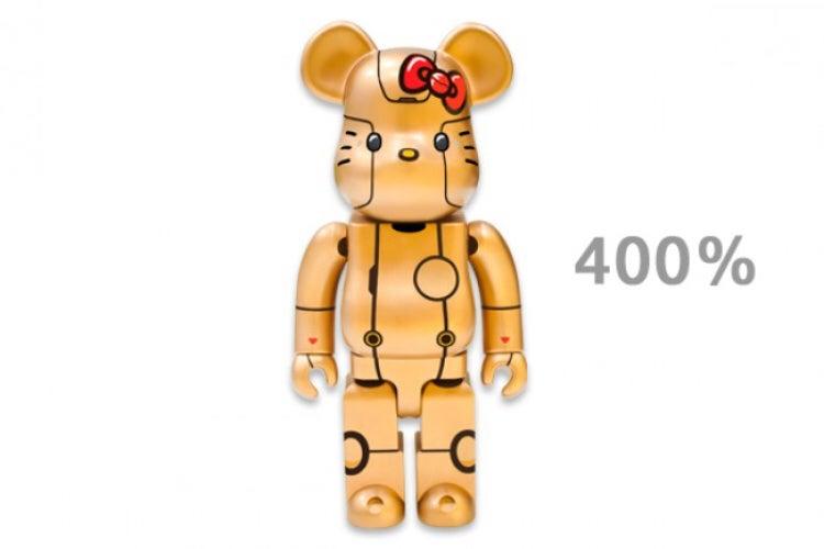 Image of Medicom Toy ROBOT KITTY Be@rbrick 400% (Gold)