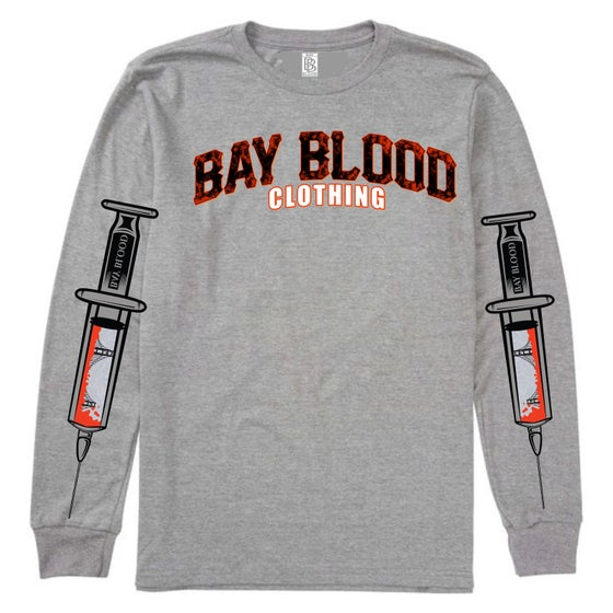 Image of Giants Blood Long Sleeve (grey)