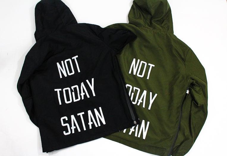 Image of Not Today Satan Windbreaker