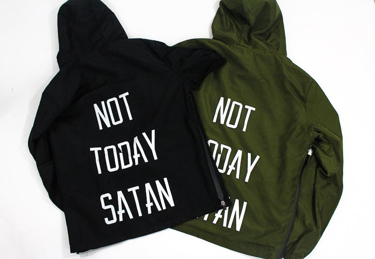 Image of Not Today Satan Windbreaker