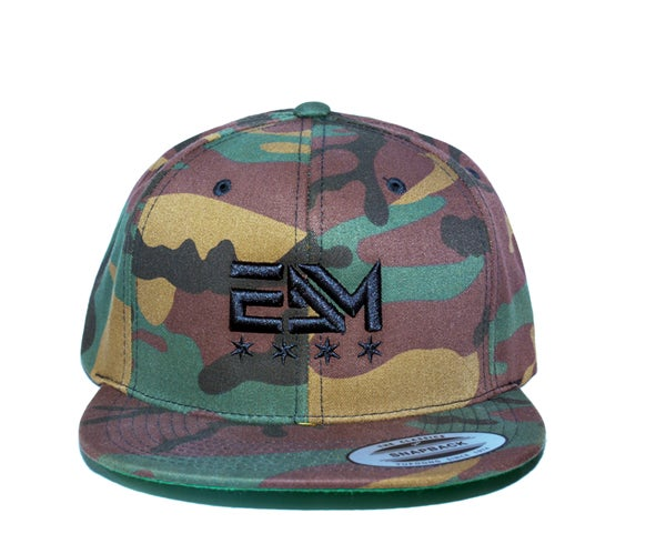 Image of 2017 EDM Chicago Snapback Hat (Green Camo)