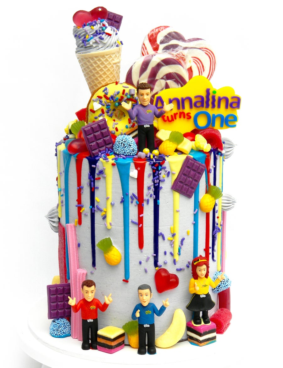 Image of Wiggles Inspired Logo Cake Topper