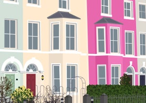 Image of Pastel Houses Giclee Print