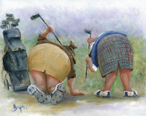 Image of Golfing Gals - Original