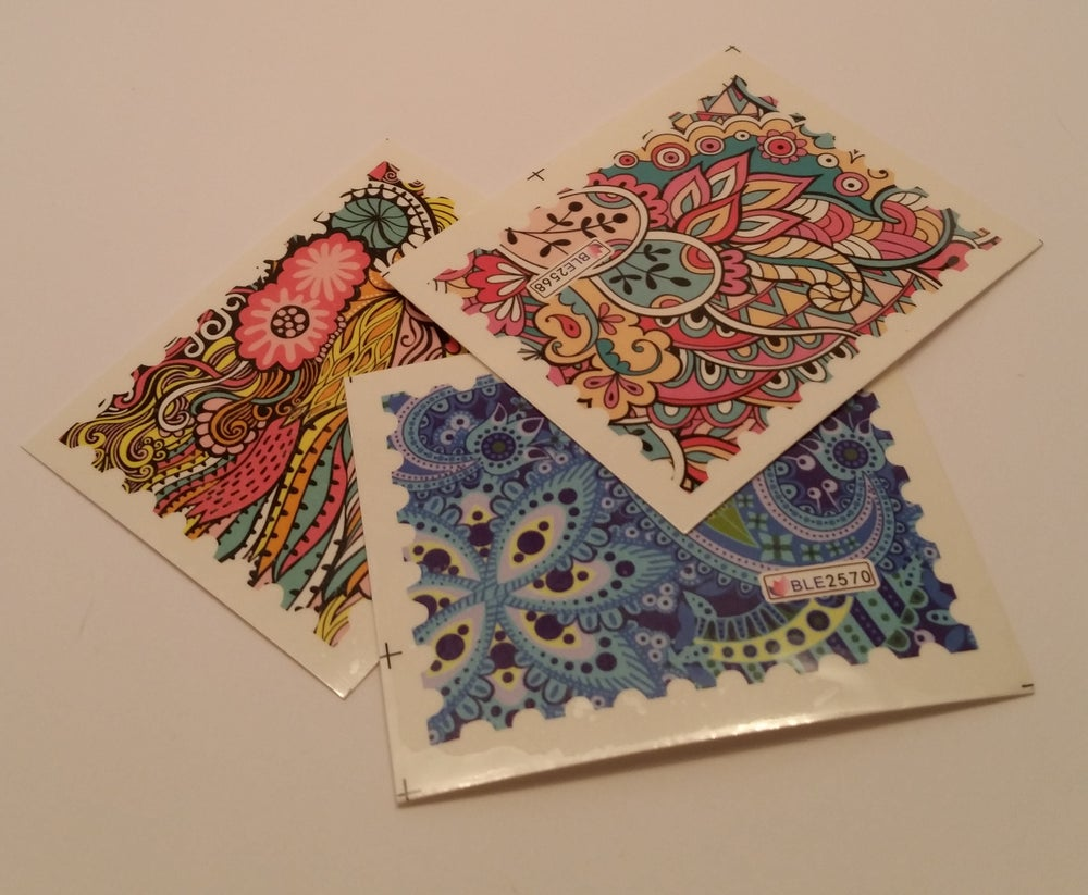 Image of Patterned Nail Decal Sheet (3 designs)