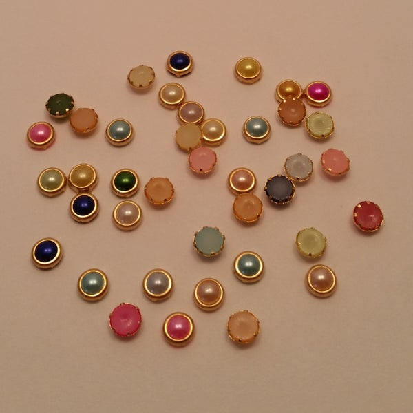 Image of Pearly Framed Nail Charms or Square AB charms