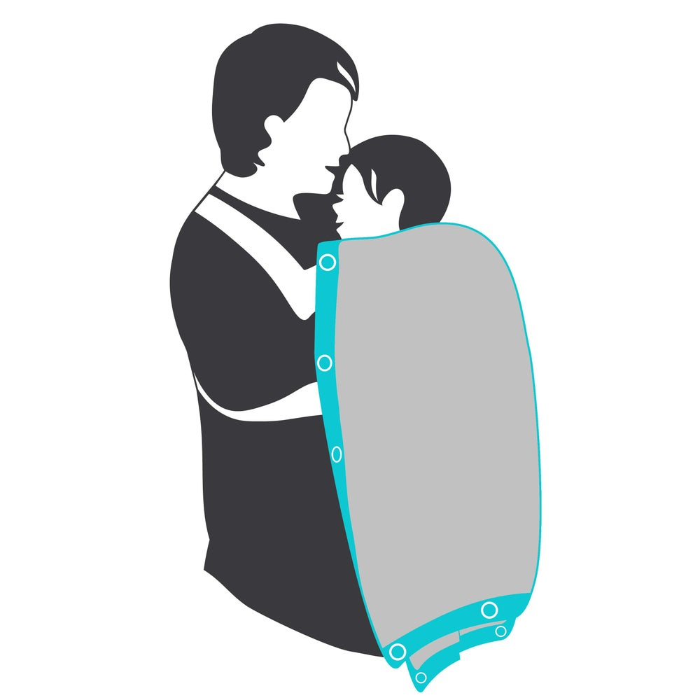 "Image of Sunsnapz Baby Blanket ""GREY/AQUA"""