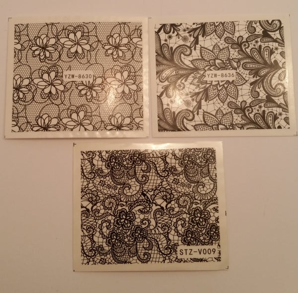 Image of ELEGANT Water Decals (8 designs available)