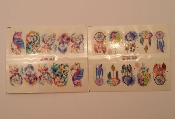 Image of Dream Catcher Water Decals (5 designs)