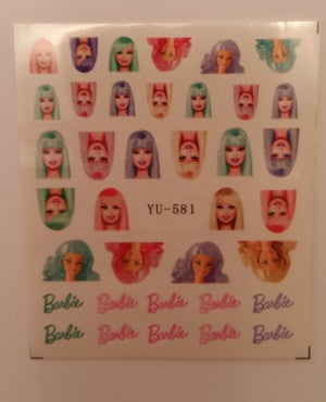 Image of BARBIE or Tom & Jerry water decals