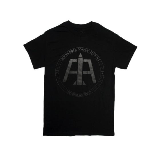 Image of Black On Black Logo Tee