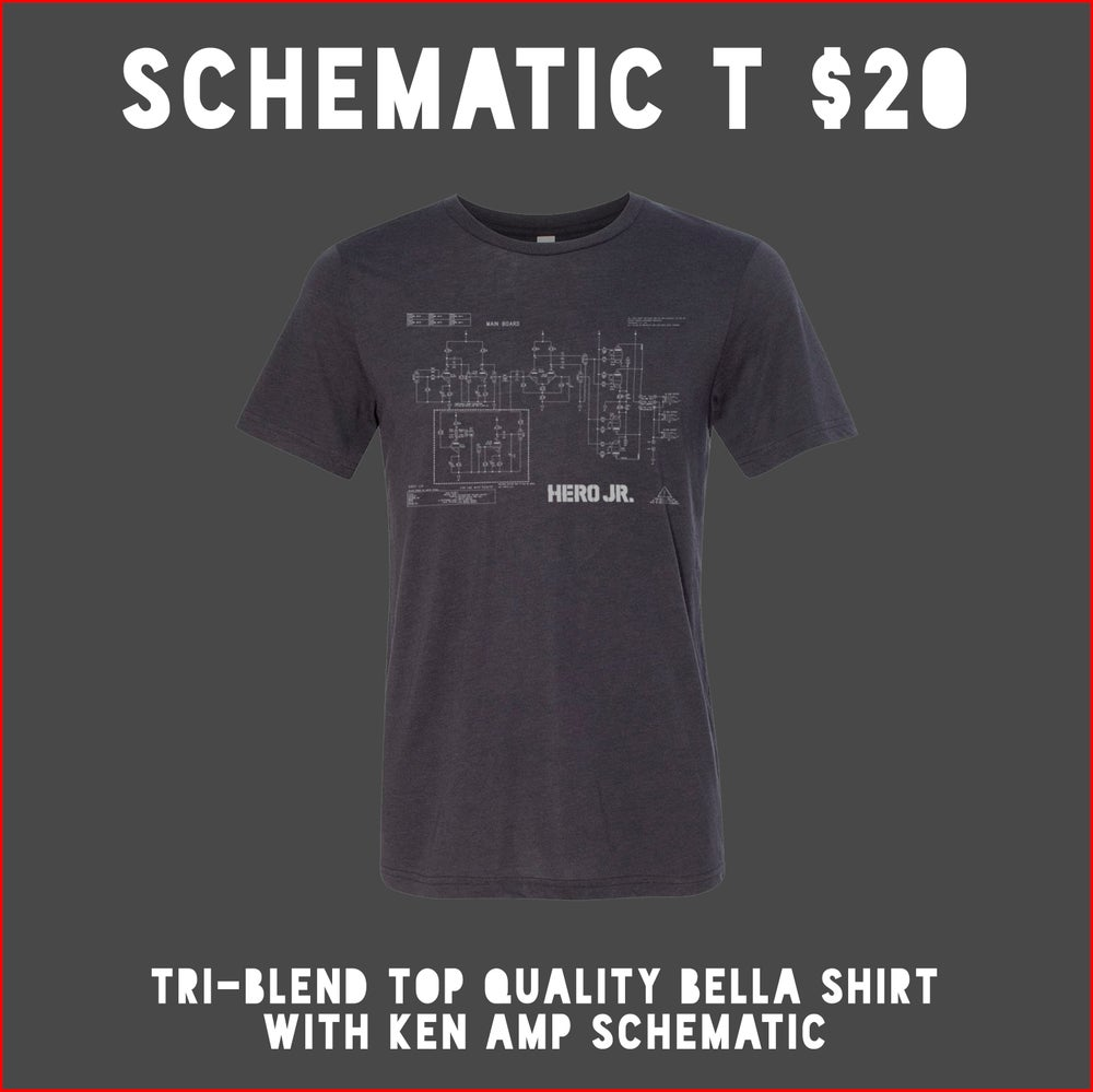 Image of Schematic Logo Gray triblend t-shirt
