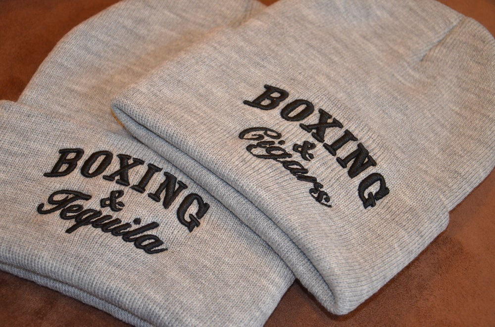 Image of Gray Boxing and Cigars Beanies