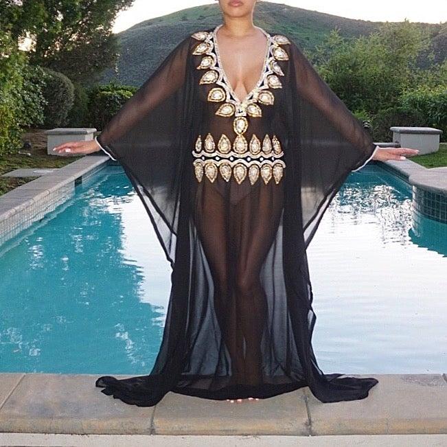 Image of Dubai Jeweled Kaftan