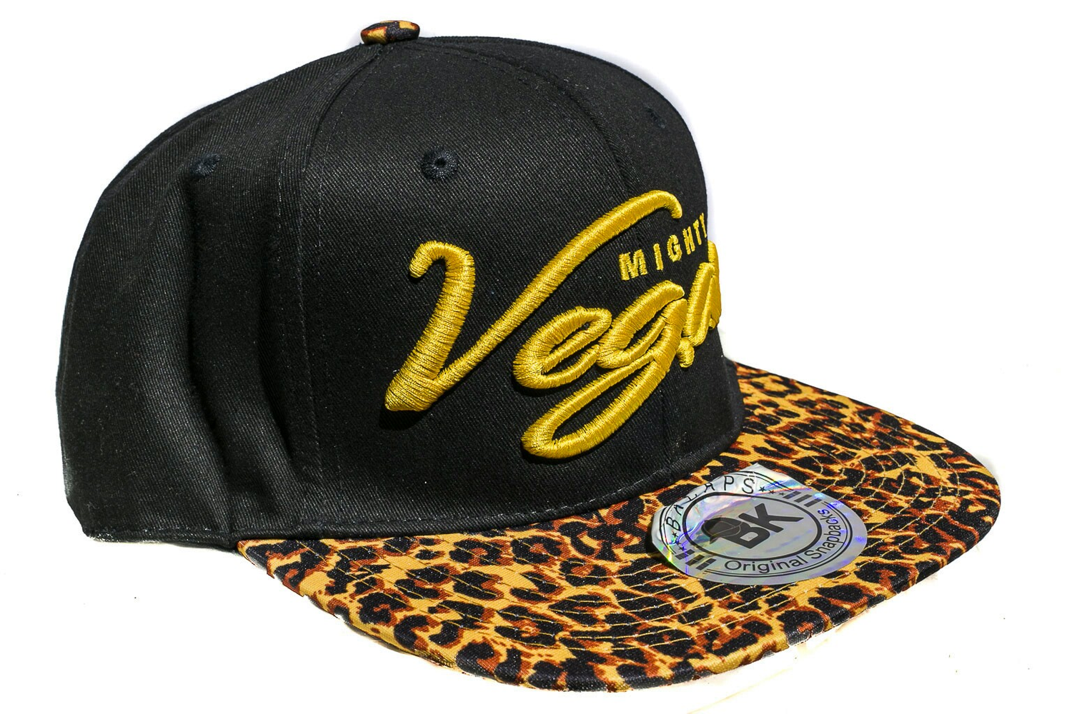 Image of MVA SNAPBACK Cheetah with GOLD 3D EMBROIDERY CURSIVE
