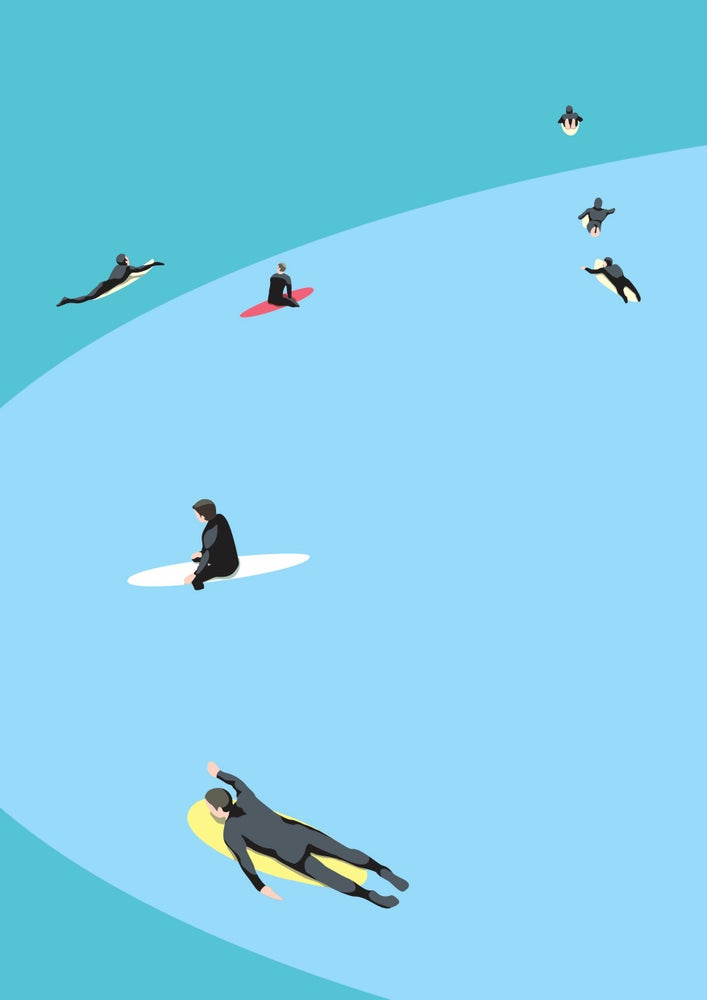Image of Summer Surfers Giclee Print