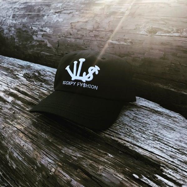 "Image of Black White ""VL$"" OCCXPY FX$HION Dad Hat"