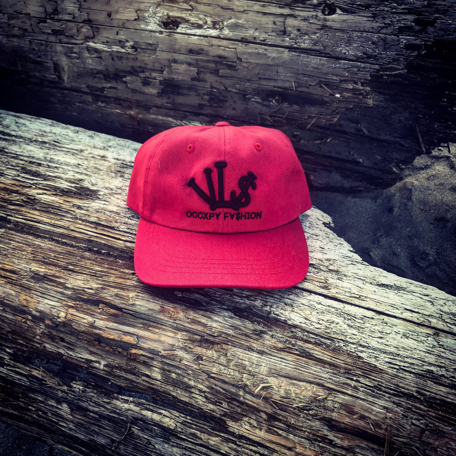 "Image of Red /Black ""VL$"" OCCXPY FXSHION Dad Hat"