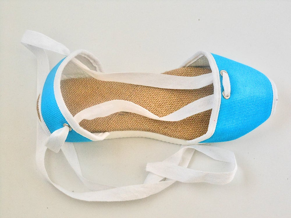 Image of Flat Albarca Espadrilles - A3V - Turquoise & Vegan - 35 to 42 EU sizes