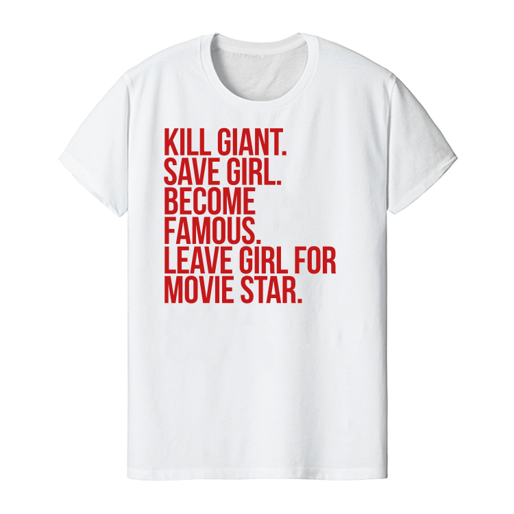 Image of Kill giant. Save girl/boy. - White - Men's and Women's tee