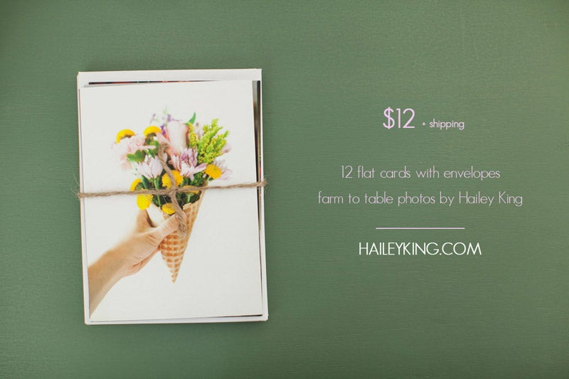 Image of farm to table photography cards