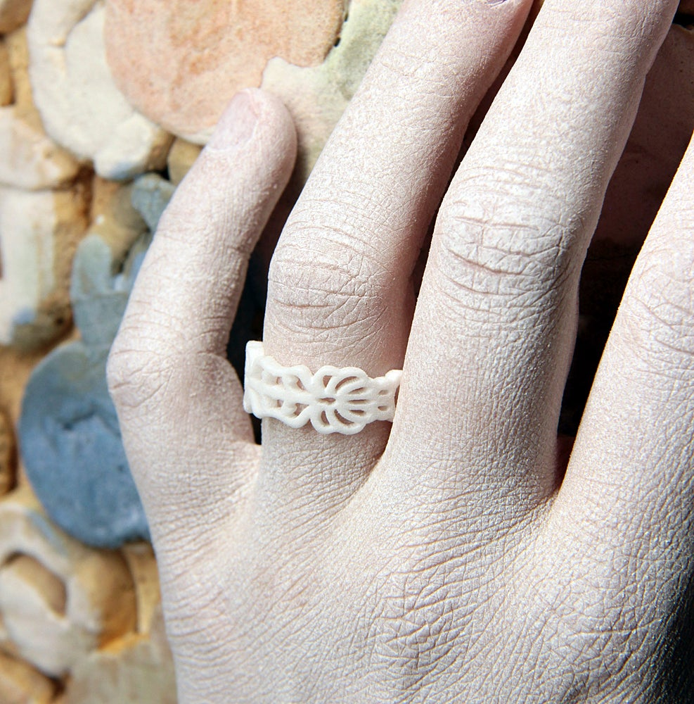 Image of 3D printed ring FLORAL
