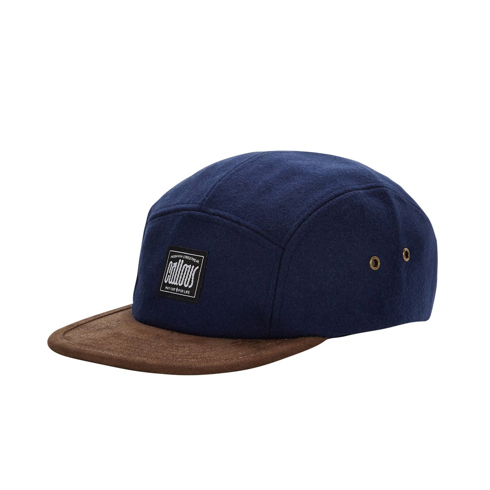 Image of Navy Woolen 5 Panel Cap