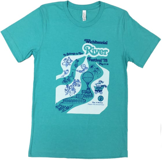 Image of 1978 RIVERFEST VINTAGE POSTER TEE