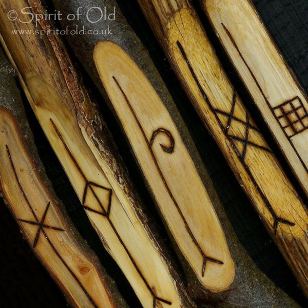 Image of Tree Speak ogham - 5 Forfeda staves (D5)