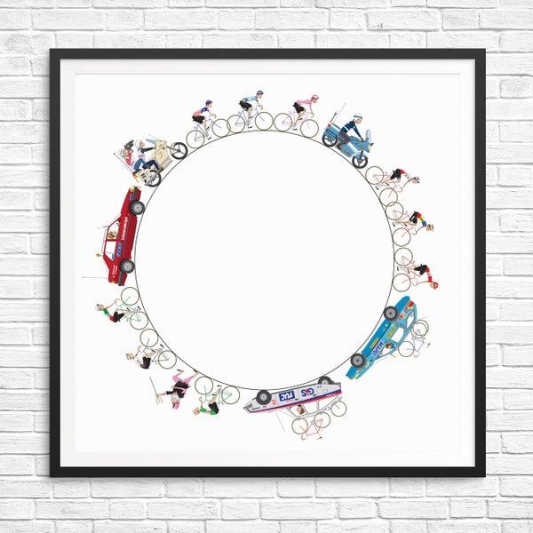 Image of Giro d'Italia Giclee Print