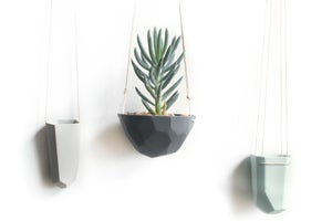 Image of geo hanging planter