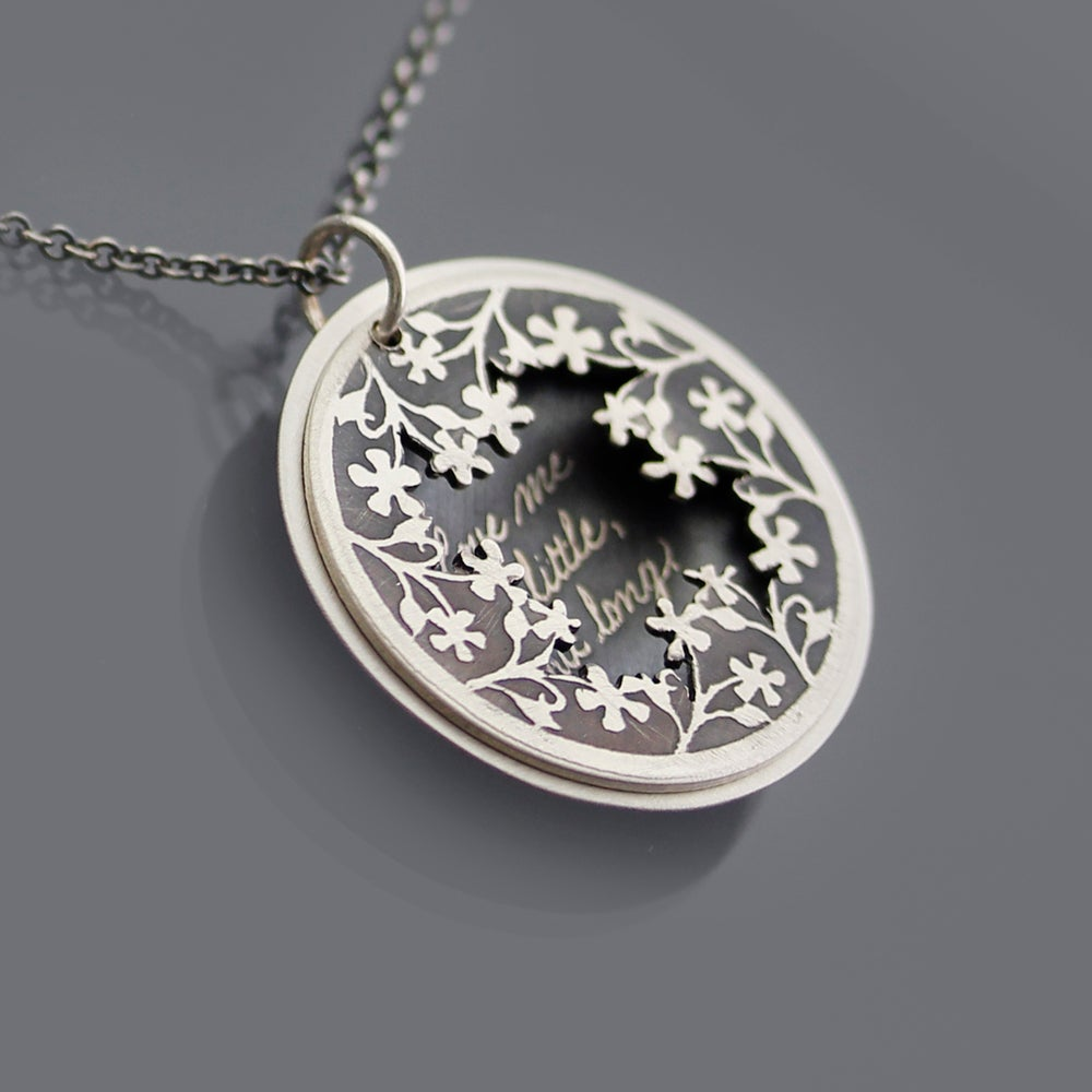 Image of Love Me A Little But Long | sterling silver locket-style necklace