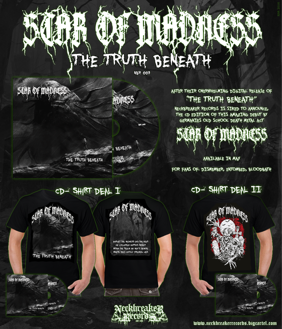 Image of Star of Madness - The Truth Beneath CD  Shirt Package II