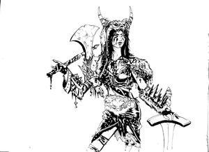 Image of Barbariana original inked piece