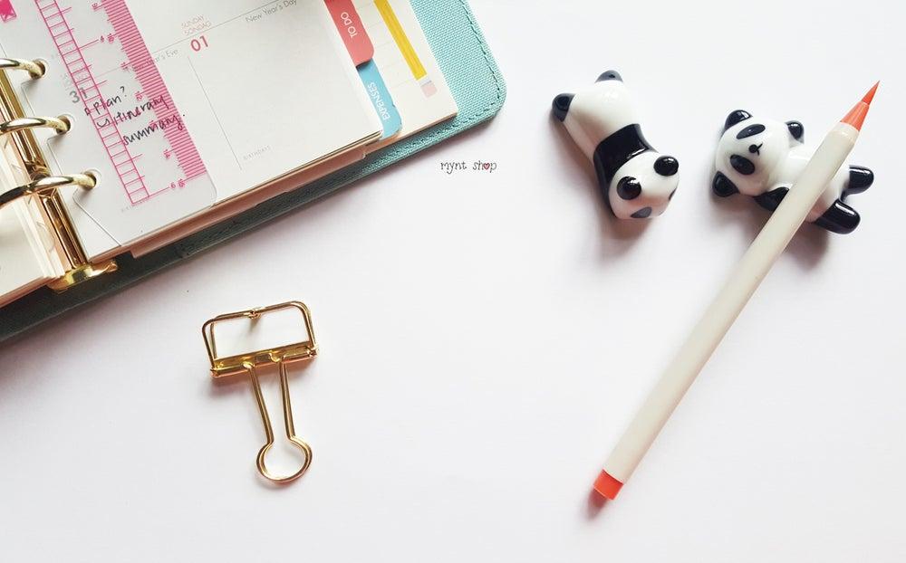 Image of Calligraphy Pen Pillow: Panda/ Hello Kitty/ Doraemon!