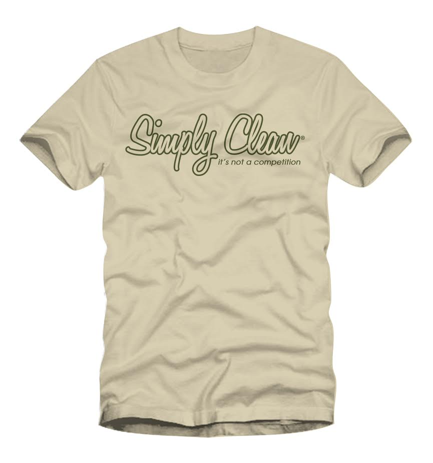 Image of Male Logo Tee... Cream/Olive