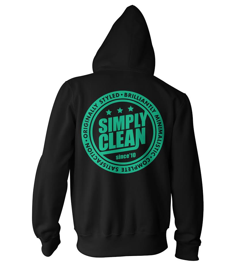 Image of Unisex Radical Zip Hoodie... Black/Mint