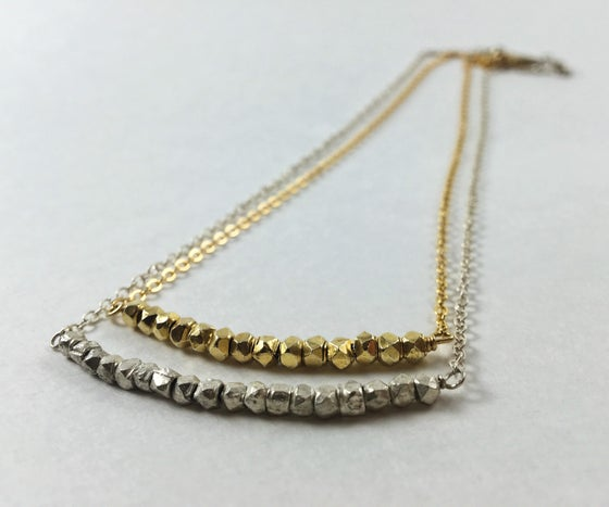 Image of Gold and Silver Nugget Necklaces