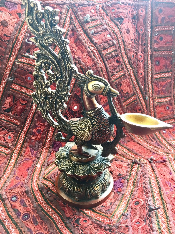 Image of Large Swan Lamp/ Diya