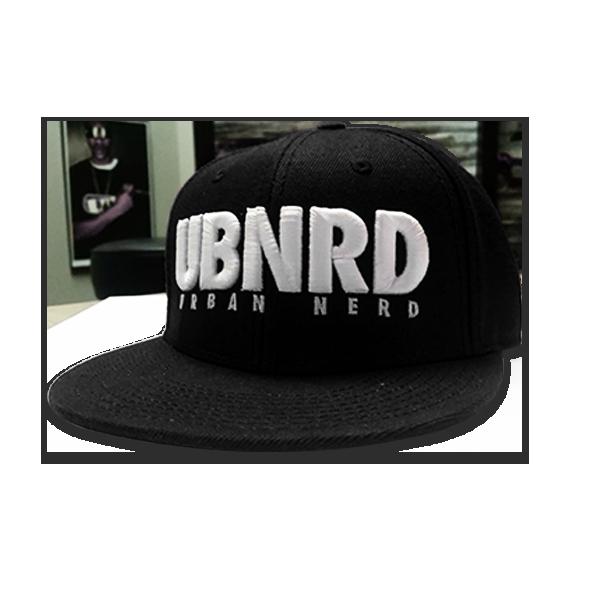 Image of BLACK - Urban Nerd ™ 6 - Panel snap back hat