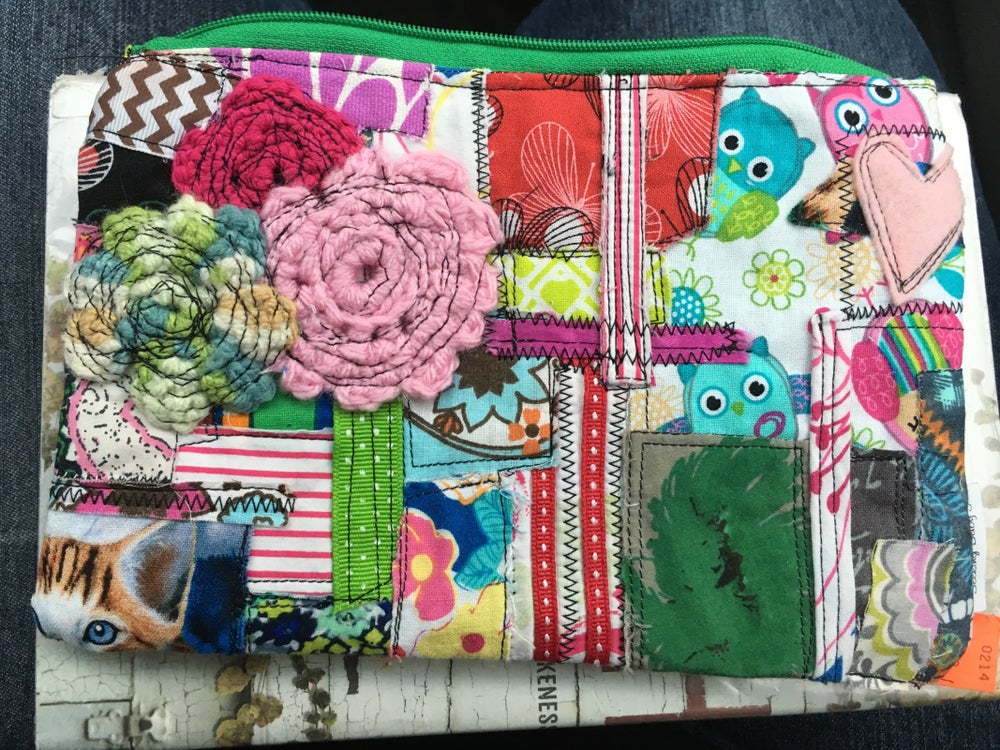 Image of Patchwork Zipper Bag