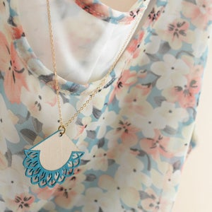 """Image of Discontinued Turquoise and Peach """"THALASSA"""" necklaces"""